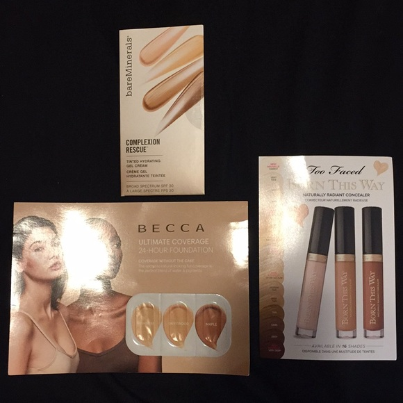BECCA Other - Lot of 3 Foundation/concealer samples NWT